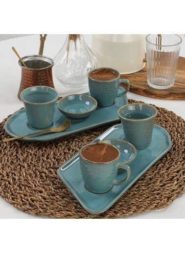 Keramika Keramika 8 ParÇa 2 Kişilik Ocean Kahve Sunum Seti Renkli